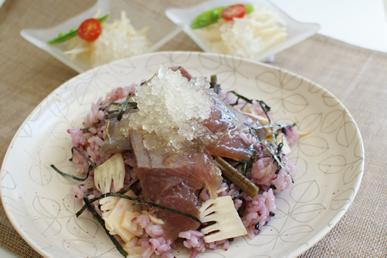 黒米の山菜ちらし寿司