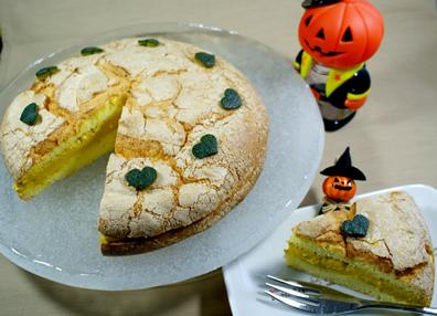 かぼちゃクリームのパフケーキ