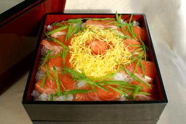 銀鮭のちらし寿司