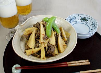 牛肉&筍の炒め煮