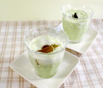グリーンアスパラのクラッシュスープ